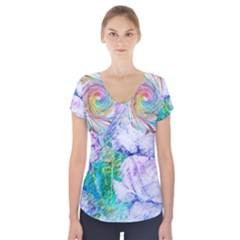 864678306 1049299 Short Sleeve Front Detail Top