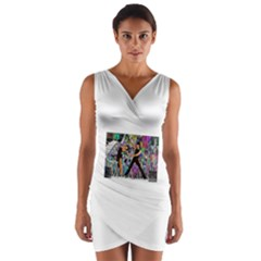 Picmix Com 4880473 Wrap Front Bodycon Dress