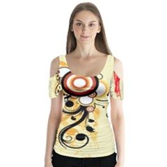 pizap.com14369077462421 Butterfly Sleeve Cutout Tee