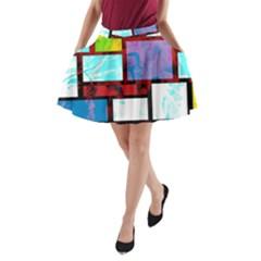 Pizap Com14616116678808 A Line Pocket Skirt