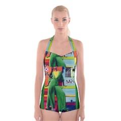864038039 1989153 Boyleg Halter Swimsuit