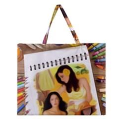13654176 10209772215964592 4375173679575027886 N Zipper Large Tote Bag