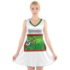 13615425 10209756295846599 4215081916050064477 N V Neck Sleeveless Skater Dress