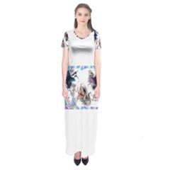 Picmix Com 5004827 Short Sleeve Maxi Dress