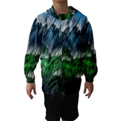Bluegreen Hooded Wind Breaker (Kids)
