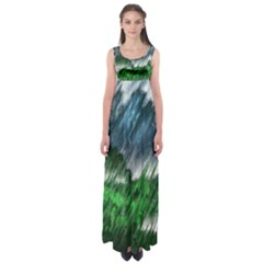 Bluegreen Empire Waist Maxi Dress
