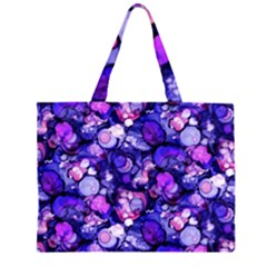 Blue Ink Rain on Glass Large Tote Bag