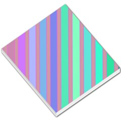 Pastel colorful lines Small Memo Pads