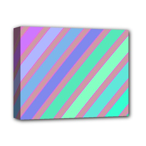 Pastel colorful lines Deluxe Canvas 14  x 11
