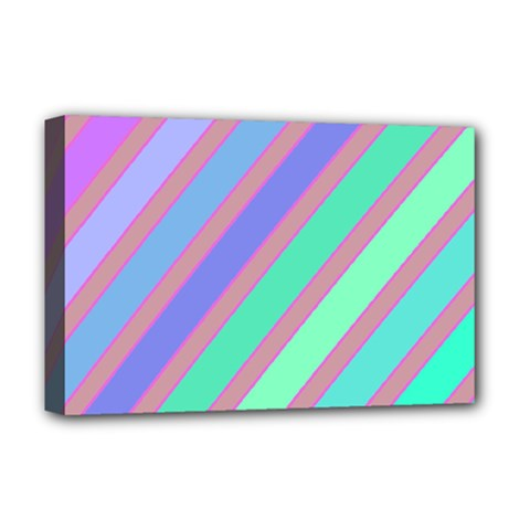 Pastel colorful lines Deluxe Canvas 18  x 12