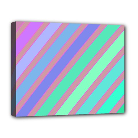 Pastel colorful lines Deluxe Canvas 20  x 16