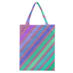Pastel colorful lines Classic Tote Bag