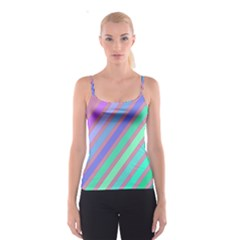 Pastel colorful lines Spaghetti Strap Top