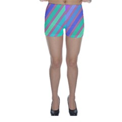Pastel colorful lines Skinny Shorts