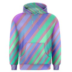 Pastel colorful lines Men s Pullover Hoodie