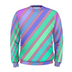 Pastel colorful lines Men s Sweatshirt