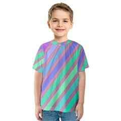 Pastel colorful lines Kid s Sport Mesh Tee