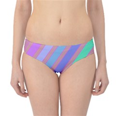 Pastel colorful lines Hipster Bikini Bottoms