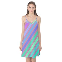 Pastel colorful lines Camis Nightgown