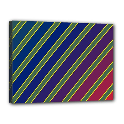 Decorative lines Canvas 16  x 12