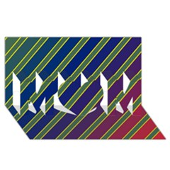 Decorative lines MOM 3D Greeting Card (8x4)