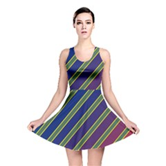 Decorative lines Reversible Skater Dress