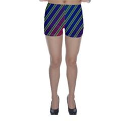 Decorative lines Skinny Shorts
