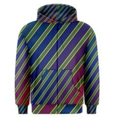 Decorative lines Men s Zipper Hoodie