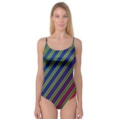 Decorative lines Camisole Leotard