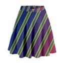 Decorative lines High Waist Skirt View1