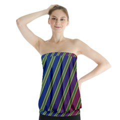Decorative Lines Strapless Top