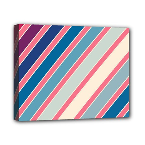 Colorful lines Canvas 10  x 8