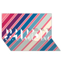 Colorful lines #1 MOM 3D Greeting Cards (8x4)