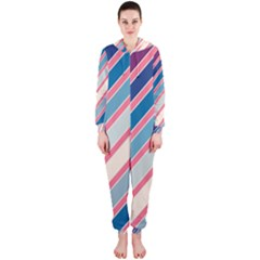 Colorful lines Hooded Jumpsuit (Ladies)