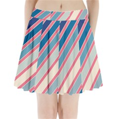 Colorful Lines Pleated Mini Mesh Skirt