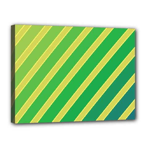 Green and yellow lines Canvas 16  x 12