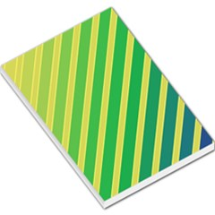 Green and yellow lines Large Memo Pads