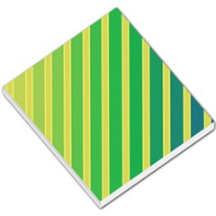 Green and yellow lines Small Memo Pads