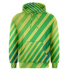 Green and yellow lines Men s Pullover Hoodie