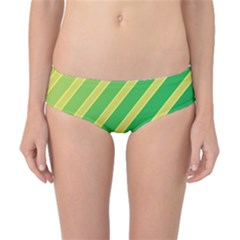 Green and yellow lines Classic Bikini Bottoms