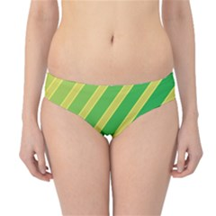 Green and yellow lines Hipster Bikini Bottoms