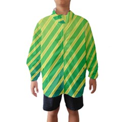 Green and yellow lines Wind Breaker (Kids)