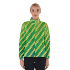 Green and yellow lines Winterwear