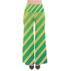 Green and yellow lines Pants