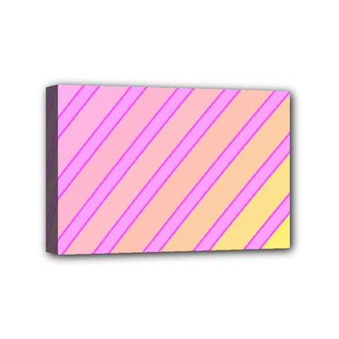 Pink and yellow elegant design Mini Canvas 6  x 4