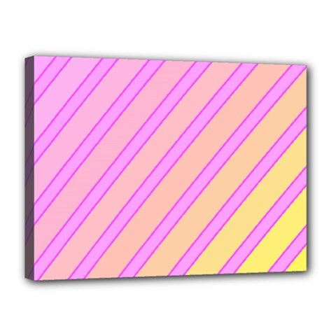Pink and yellow elegant design Canvas 16  x 12