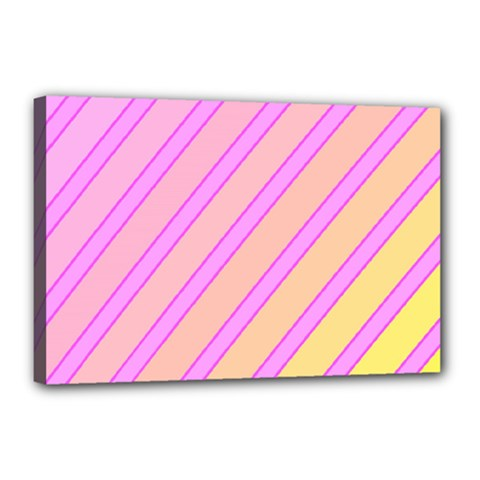 Pink and yellow elegant design Canvas 18  x 12