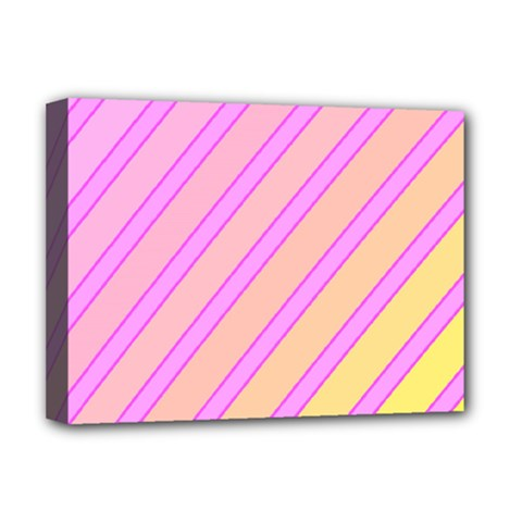 Pink and yellow elegant design Deluxe Canvas 16  x 12