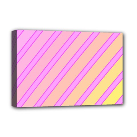 Pink and yellow elegant design Deluxe Canvas 18  x 12