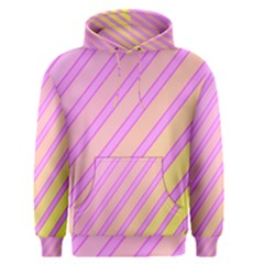 Pink and yellow elegant design Men s Pullover Hoodie